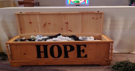 Sock it to em Sunday - filling our HOPE chest!