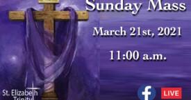 5th Sunday of Lent - Mar 21st, 2021